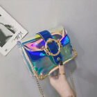New Women PVC Transparent Clear Shoulder Bag Tote Jelly Purse Wallets Handbag UK