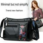 Women Floral Printed Shoulder Bags Multi Pocket Leather Crossbody Handbags UK