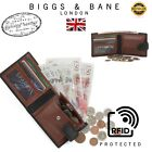 Real Leather Slim Wallets For Men Bifold Mens Wallet W/ ID Window RFID B