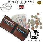 Real Leather Slim Wallets For Men Bifold Mens Wallet W/ ID Window RFID Blocking