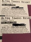 2 x Alton Towers Tickets for use on Saturday 26th September
