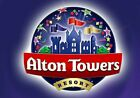 Pair Of Alton Towers E-Tickets Weds 16th Sept 2020